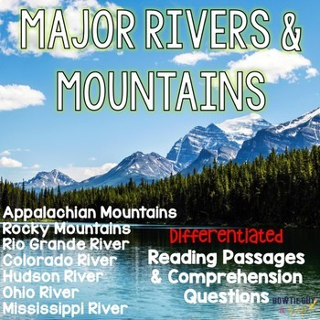 Major Rivers And Mountains Of The United States Differentiated - Mountains in the united states