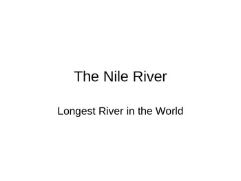 Rivers of the World Powerpoint
