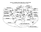 Rivers of the world answer key-map labeling activity