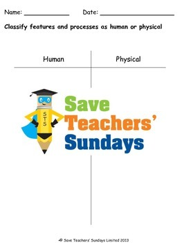 Rivers - physical and human features Lesson plan and Worksheets