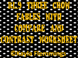 RL.2 RL.9 Three Crow Fables with Compare and Contrast worksheet
