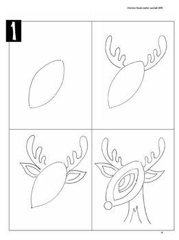 Noël: Arts plastiques: Renne au nez rouge, hiver, Noël, en français