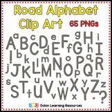Road Alphabet Clip Art
