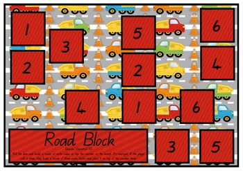 Road Block Roll and Count Game
