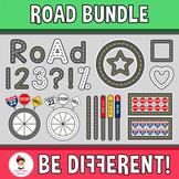 Road Bundle Clipart Transportation Math Geometry 2D
