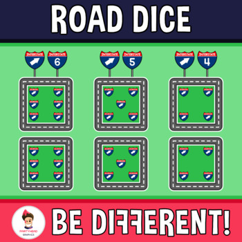 Road Dice Clipart
