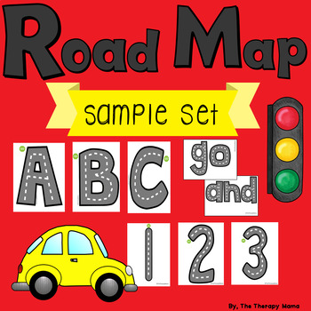 Road Map Printable Letters Numbers Sight Words Sample Set