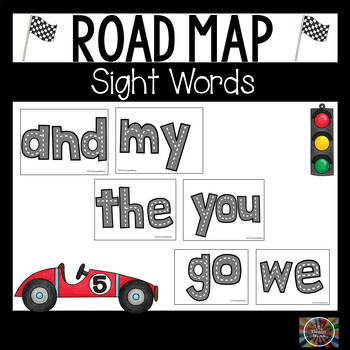 Road Map Sight Words Printable Tracing Cards Dolch Pre Primer