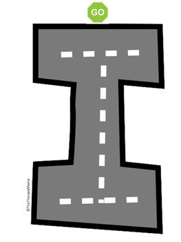 Road Map Tracing Cards for the Lowercase Alphabet