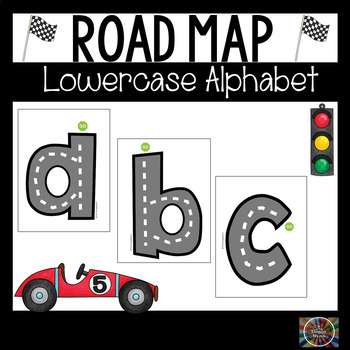 Road Map Lowercase Alphabet Letters