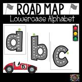Road Map Lowercase Alphabet