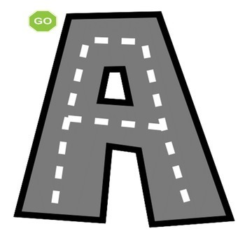 Road Map Tracing Letter Formation Cards Uppercase Alphabet