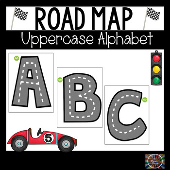 Road Map Tracing Letter Formation Cards Uppercase Alphabet ABA Autism Resource
