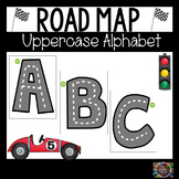 Road Map Uppercase Alphabet Letters