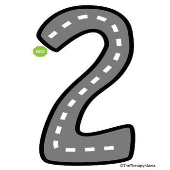Alphabet Letters Numbers Road Maps