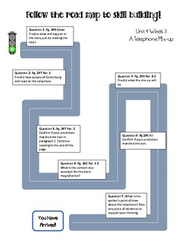 Road Map and Response Sheet - McGraw Hill Reading Wonders Unit 4 Week 3