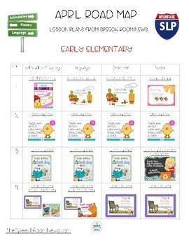 Road Map for April: Speech and Language Lesson Plans