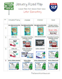 Road Map for January: Speech and Language Lesson Plans FREE