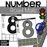 Road Number Mats - Fine Motor Fun!