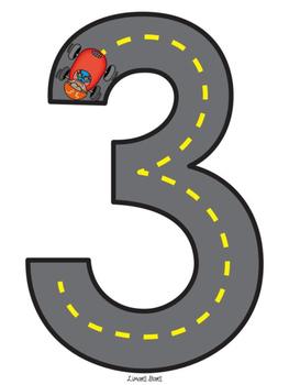 Road Number Mats {NO DITTOS}