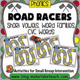 Short Vowels, Word Families and CVC Words - Road Racers