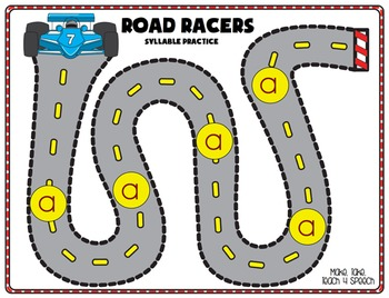 /r/ Phoneme - Road Racers Syllable Practice