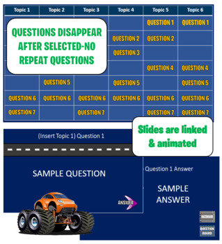 Jeopardy Template - Road Rally  (Trivia Game)