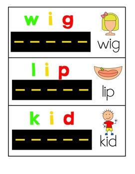 Road Readers Blending and Segmenting CVC Words with Short I