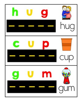 Road Readers Blending and Segmenting CVC Words with Short U
