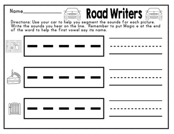 Road Readers Blending and Segmenting Long A CVCe and CCVCe Words Magic E