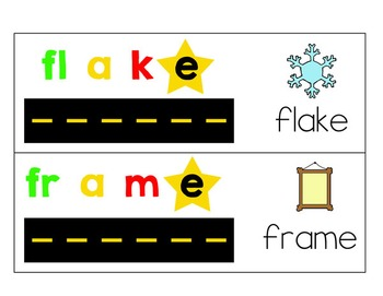 Road Readers Blending  Long A Magic E Words