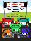 Road Readers Blending and Segmenting Short Vowel CVC Words Bundle