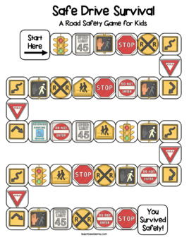 Road Safety Board Game