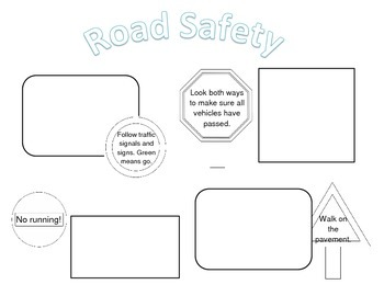 Road Safety Poster template (differentiated)