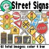 Road Safety: Street Signs ClipArt