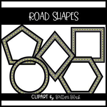 Road Shapes Clipart