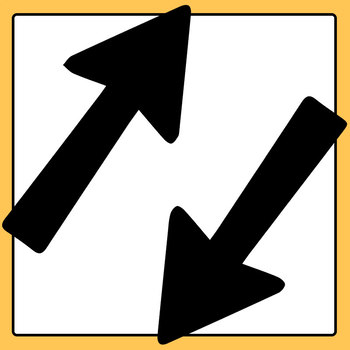 Road Sign Style Directional Arrows for Graphic Organizer Clip Art Commercial Use