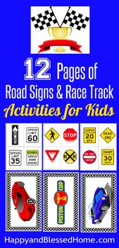 Road Sign and Race Track Printables