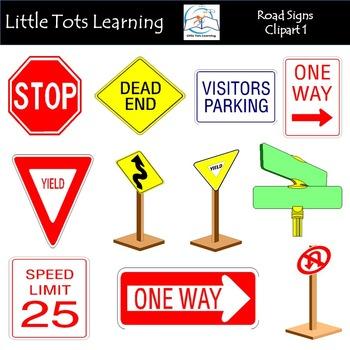 Road Signs Clip Art 1
