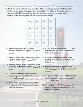 Road Signs-Directions Magic Square