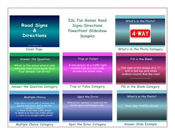 Road Signs-Directions PowerPoint Slideshow
