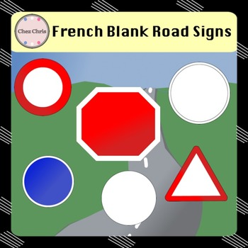 Road Signs - French & American - Cliparts