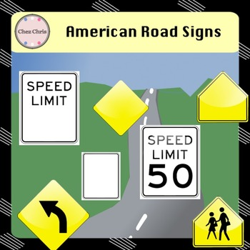 Cliparts -  French and American Road Signs