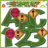 Road Signs Lettering Delights Alphas - Cheryl Seslar Clip Art