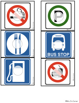 Road Signs Missing Pieces Task Box | Task Boxes for Special Education