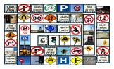 Road Signs and Directions Spanish Legal Size Photo Board Game