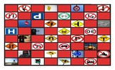 Road Signs and Directions Spanish Legal Size Photo Checkerboard Game