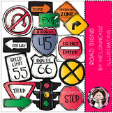 Road Signs clip art - COMBO PACK- by Melonheadz