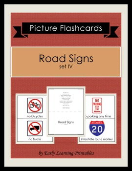 Road Signs (set IV) Picture Flashcards