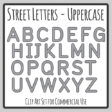 Road / Street Alphabet Letters 2 for Transport Themes Clip Art Commercial Use